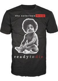Notorious Big Ready to Die T Shirt 2011 New Apparel Accessories