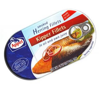Appel Smoked Kipper Fillets in Oil and Own Juice 190g 6 7oz Product of