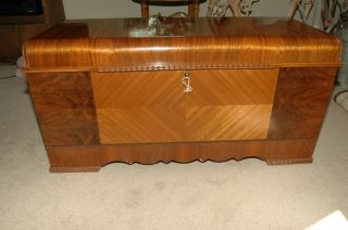 Antique Lane Cedar Chest Art Deco Waterfall Style. Very Clean