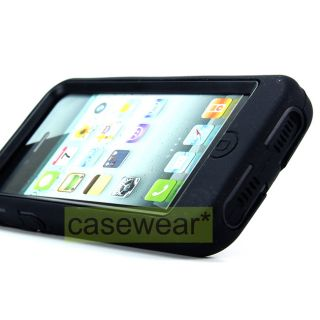 your Apple iPhone 5 with Black Kickstand Double Layer Hard Case