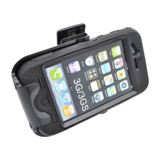 For Apple iPhone 3G 3GS Armor Case Black Black Holster Belt Clip with