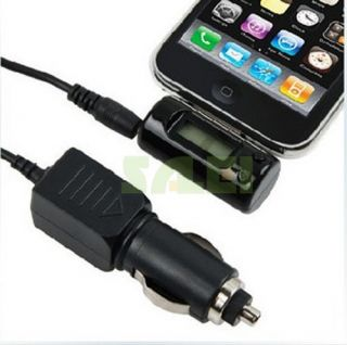 Black FM Transmitter Car Charger Controller for Apple iPod iPhone