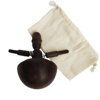 Antique Vintage Wood Spinning Toy Dancing Top Wooden Re