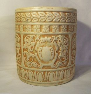 Vintage Weller Pottery Clinton Ivory Cylindrical Jardiniere Price
