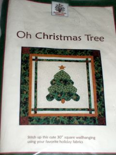 OH CHRISTMAS TREE APPLIQUE QUILT WALL HANGING KIT NANCY RINK FABRIC