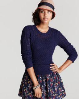 Aqua New Purple Cashmere Long Sleeve Crew Neck Pullover Sweater M BHFO