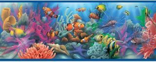 Aquarium Wallpaper Border Tropical Fish Ocean