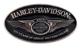Genuine Harley Davidson 110th Anniversary Belt Buckle