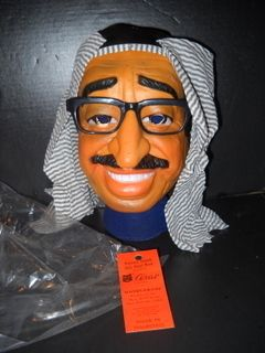 vintage Old Halloween YASSER ARAFAT   CESAR   Latex Mask w/ tag new