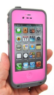 New Waterproof Apple iPhone 4 4S Cell Phone Protective Case Pink