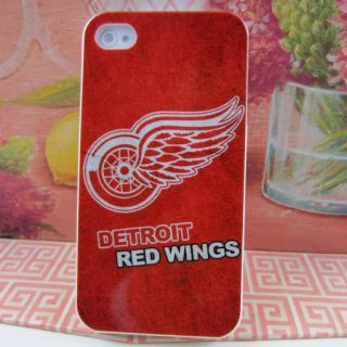 Apple iPhone 4 4S 4G Detroit Red Wings Rubber Silicone Skin Case Phone
