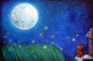 Twinkle Twinkle Little Star~Teddy Bear & Firefly~Sleeping Baby Nursery