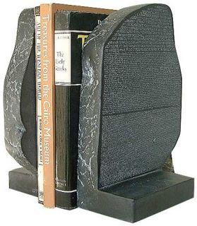 Rosetta Stone Bookends Ancient Egypt Decorative Replica
