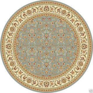 Lyndhurst Light Blue Floral Carpet Area Rug 8 Round