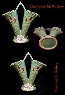 Weller Pottery 10 1/8 Double ARDSLEY Handled Vase, circa 1920s
