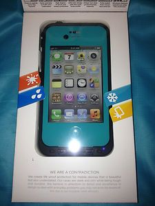 iPhone case 4/4S Teal/Aqua Case, This is 100% Life proof Brand case