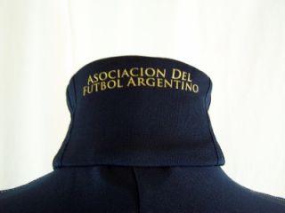 Mens Dark Blue Argentina Football Soccer Track Jacket Size Large