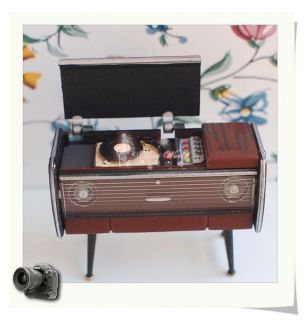 Dollhouse Miniature 1 24 Toy Antique Record Player Length 5cm 2inches