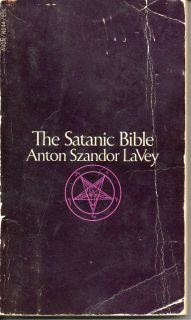 Bible 1st Printing 1969 signed by Anton LaVey M Aquino personal copy
