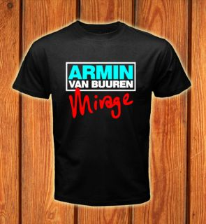 Dj Armin Van Buuren Mirage Logos Men Black T shirt size S 2XL