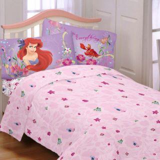 LITTLE MERMAID TWIN SHEET SET   Princess Ariel Dance Sheets Bedding