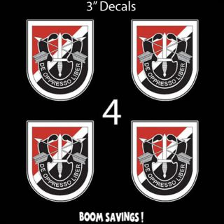 US Army Flash 6th Special Forces Group DUI 4 Four 3 Decal Sticker Lot