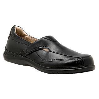 Aravon by New Balance Faye Womens Black Leather Slip on Shoes WEF06BK