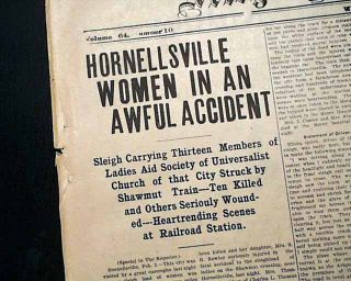 Hornellsville NY Women Sleigh Train Arkport New York Disaster