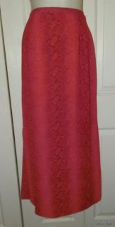 Juniors Bentley Arbuckle Skirt 3 Red Snake Print Long Maxi Sexy Melon