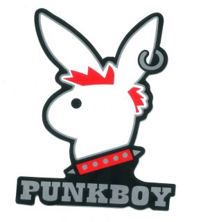 Punk Bad Boy Bunny Rabbit Skate Bikes Vinyl Sticker N33