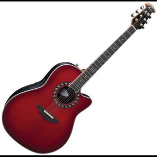 New Ovation Legend 2077AX Cherry Burst Deep Contour Acoustic Electric