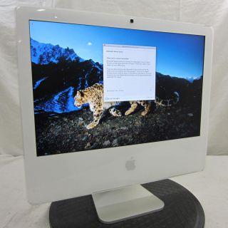Apple iMac 20 Intel Core Duo 2GHz 2GB 250GB DVD RW WiFi OSX 10 6