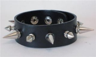Spike Wristband Black Death Extreme Metal Stud Occult