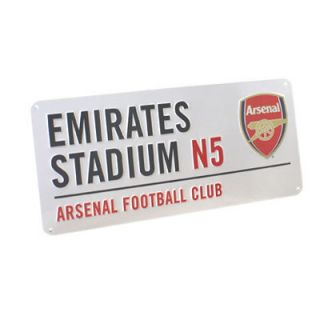 Arsenal Official Emirates Stadium Metal Street Sign