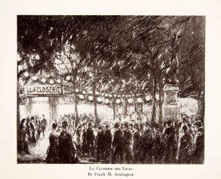 1931 Print La Closerie Des Lilas Left Bank Paris France Restaurant