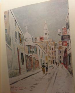 Maurice Utrillo Sacre Coeur de Montmarte and Passage Cottin Print 24 7