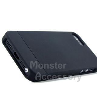 Black Dockable Hard Case Cover for Apple iPhone 5 5th Gen