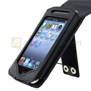 Black Leather Case Cover for iPod Touch 2nd 3rd Gen 3G