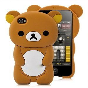 iPod Touch 4 8g 16g 32G 4th Generation Gel Skin Case Cover Brown Bear
