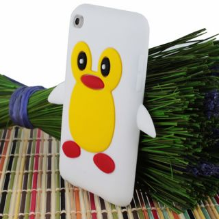 Penguin Silicone Soft Case Skin for Apple iPod Touch 4G 4th Gen w/Film