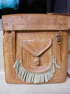 Artesian Handmade Leather Messenger Bag or Shoulder Purse