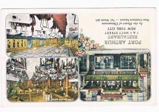 New York Port Arthur Restaurant Mott Street Chinatown Postcard