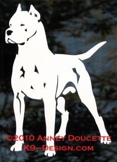 Dogo Argentino Dog Vinyl Decal Sticker by K9 Design