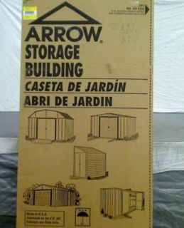 New Arrow Buildings SR68206 Gable Steel Lawn Building 10 ft x 6 Ft