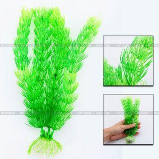 New 7 Green Grass Plastic Artificial Fish Tank Ornament Plant