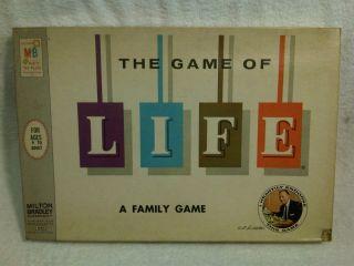 Vtg 1960 THE GAME OF LIFE Board Art Linkletter Milton Bradley COMPLETE