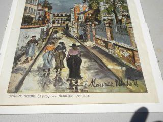 vintage maurice utrillo print 1925 street scene