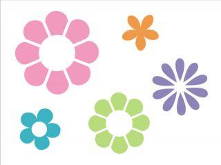 Stencil Flower Power Hippie Love Peace Design Art Shape