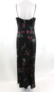 Arianna Rachel Kaye Black Floral Full Length Dress 12