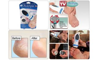 spin electronic foot callus removal kit smooth sexy feet as seen on tv